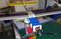 Name: Franken Glider 6.jpg Views: 7 Size: 66.3 KB Description: The adapter plate from EA functions as a means to hold the boom and gives you a convenient place to attach your rubber bans to hold the wing in place.