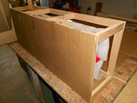 Name: DSCN1635.jpg Views: 117 Size: 721.1 KB Description: Now, cardboard is cut to right size and taped to the crate frame in a few spots to start
