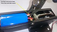 Name: Cut the 3 wire servo lead..jpg Views: 398 Size: 260.6 KB Description: Cut the 3 wire servo lead.