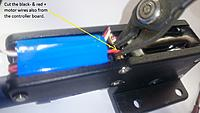Name: Cut the motor wires..jpg Views: 391 Size: 270.5 KB Description: Cut the 2 motor wires.