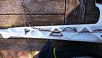 Name: DSC_0128.jpg Views: 65 Size: 730.4 KB Description: Tail feather servo wiring & Dragon Rx antenna