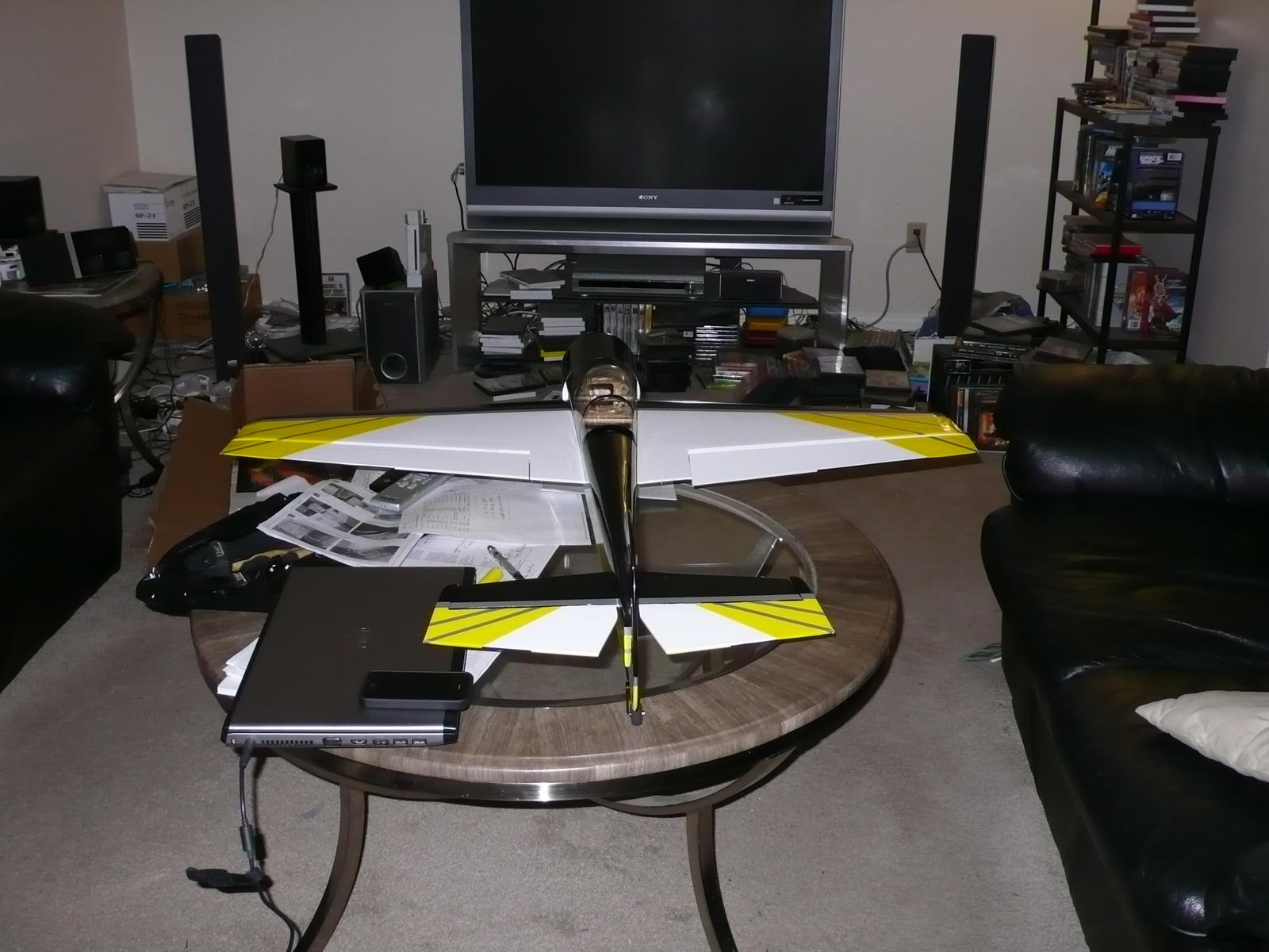Name: P1000795.jpg Views: 199 Size: 168.5 KB Description: Starting to look like a Yak55 now!!! Getting ready for final setup in no time...