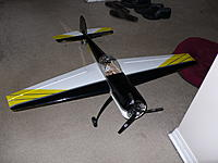 Name: P1000823.jpg Views: 130 Size: 229.0 KB Description: Top down view of the Yak 55! air vanes inside the cowling visible...