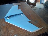"""Name: HPIM3695.jpg Views: 345 Size: 80.5 KB Description: The wing is BulCor fan fold and balsa. 39"""" span."""
