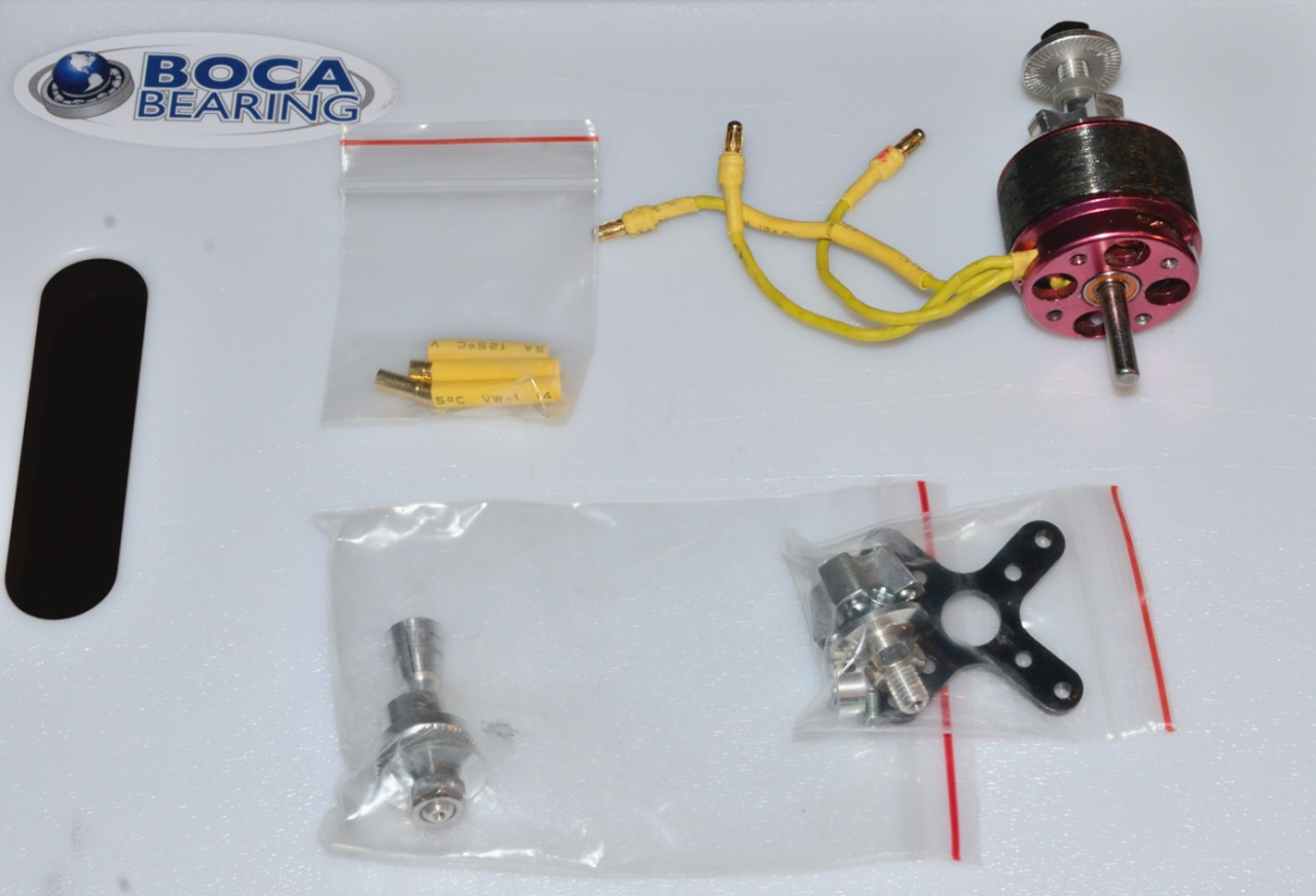 Name: Torque2818.jpg Views: 42 Size: 195.0 KB Description: Torque Motor, Boca Bearing ceramic bearings, bullets for ESC, 2 prop adapters, X-mount and all required hardware.