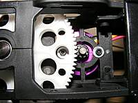Name: DSCF2347.jpg Views: 219 Size: 132.4 KB Description: The holes on the gears line up to allow for easy access to the motor bolts.