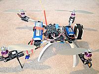 """Name: IMG_1276.jpg Views: 577 Size: 140.8 KB Description: Had to use 750kv motors so I had to up the prop size to 10"""""""