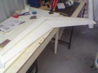 Name: Image006.jpg Views: 258 Size: 33.0 KB Description: tips sanded , spars installed and ready for taping