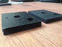 Name: 20180502_213104.jpg Views: 43 Size: 1.58 MB Description: Two kinds of black foam that cut great.   I'm still toying with the idea of making a plane out of tool-drawer foam.  :-)