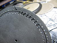 Name: IMG_9622.jpg Views: 70 Size: 276.0 KB Description: Blackened fishing line laced through the holes simulates the stitching.