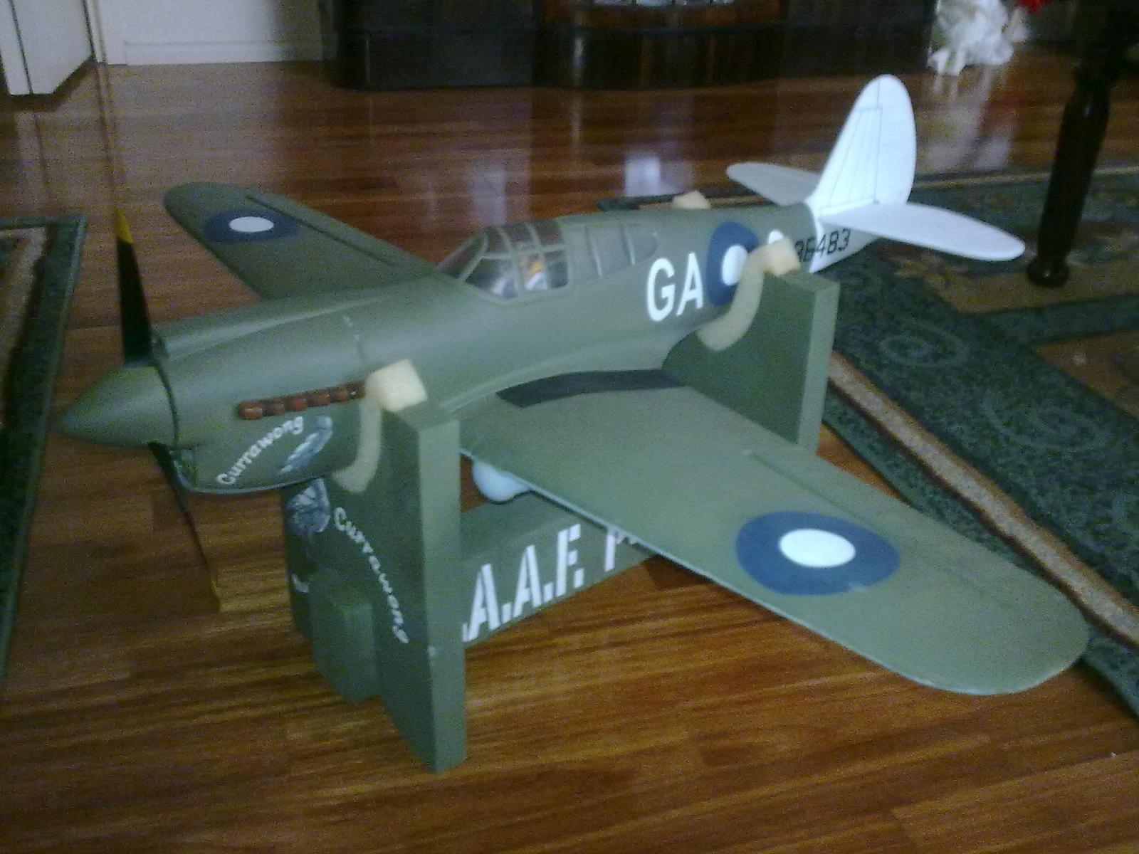 "Name: 04112009_004.jpg Views: 133 Size: 218.3 KB Description: Thundertiger P40 repainted as RAAF ""Currawong"""
