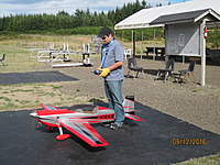 Name: Chucks first flight.jpg Views: 99 Size: 107.7 KB Description: Cryhavoc's first flight braving the gusty conditions