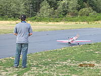 Name: Chucks first flight2.jpg Views: 74 Size: 122.9 KB Description: Taxiing down runway
