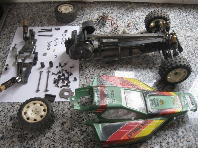 Old Kyosho Optima Mid Restoring A Parts Donor Car To Running