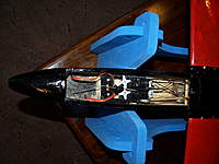 Name: Picture or Video 003.jpg Views: 228 Size: 65.9 KB Description: Room for lots of servos in here, only rudder and elevator at the moment (with the rudder coupled to the flaperons!)