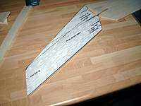 """Name: Picture or Video 060.jpg Views: 178 Size: 73.6 KB Description: Each tailplane half is made from two pieces of 1/4"""" balsa, the grain direction is different, tip left off till after sanding (the razor plane will catch it)."""