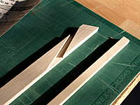 """Name: Picture or Video 065.jpg Views: 133 Size: 100.8 KB Description: Leading edge is clever, three laminations of 1/8"""" balsa with a cut-out in the middle one for the control rod."""