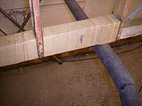Name: Picture 012.jpg Views: 66 Size: 64.7 KB Description: 'Mummy' tape applied to the rudder post.