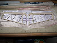 Name: Picture 071.jpg Views: 64 Size: 70.8 KB Description: ...and assembled the basic structure. The triangular trailing edge is packed up to level it.