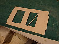 Name: PA169295.jpg Views: 60 Size: 542.2 KB Description: Random messing about with the servo tray, slightly too wide so a strip of Liteply was glued into the cutout. Hardwood (spruce) rails have now been added for the servo screws.