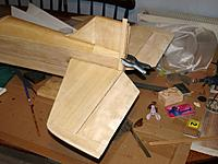 Name: P3049593.jpg Views: 59 Size: 507.2 KB Description: Tailplane and fin glued into position.