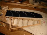 Name: 0147.jpg Views: 334 Size: 73.5 KB Description: Sushi Wing half next to a freshly roughed together ASK-18 rudder.
