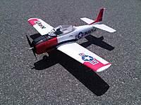 Name: IMG00855-20100703-1208.jpg Views: 121 Size: 97.1 KB Description: ParkZone T-28 Trojan.  Upgraded motor, APC 10x7, Landing Flaps.