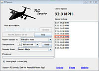 Name: rc-speedo-august-17.jpg Views: 81 Size: 73.0 KB Description: Bf 109 speed runs - 850mAh 4S