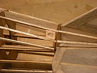 Name: DSCN0562.jpg Views: 431 Size: 162.5 KB Description: Used scrap balsa and push rod tubes to build the holes for the pull-pull lines. Shown is the hole for the rudder line.