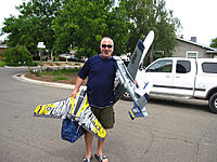 Name: Lou and his planes.JPG