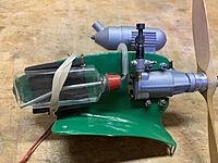 """Name: IMG_0711.JPEG Views: 17 Size: 734.7 KB Description: I made this fuel tank from a hand-lotion bottle.   It is exactly 1 floz, and I liked the flattened """"streamline"""" look of it.  Nothing says you have to use commercial fuel tanks for everything!"""