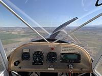 Name: IMG_4600 2.jpeg Views: 20 Size: 1.92 MB Description: Talk about your basic panel.... altimeter, airspeed, compass, and EIS (cylinder head temp, exhaust temp, RPM, rate of climb, Hobbs hour meter).
