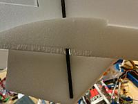 Name: San Diego-20110824-00104.jpg Views: 143 Size: 137.5 KB Description: cut a slot into elevator to compensate for the carbon rod