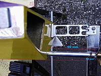 Name: Maten schroefas..jpg Views: 14 Size: 1.39 MB Description: Rudder assembly with a wedge. The propshaft has an offset to the right and the heartline is 13,5 mm above the deepest point od the hull.