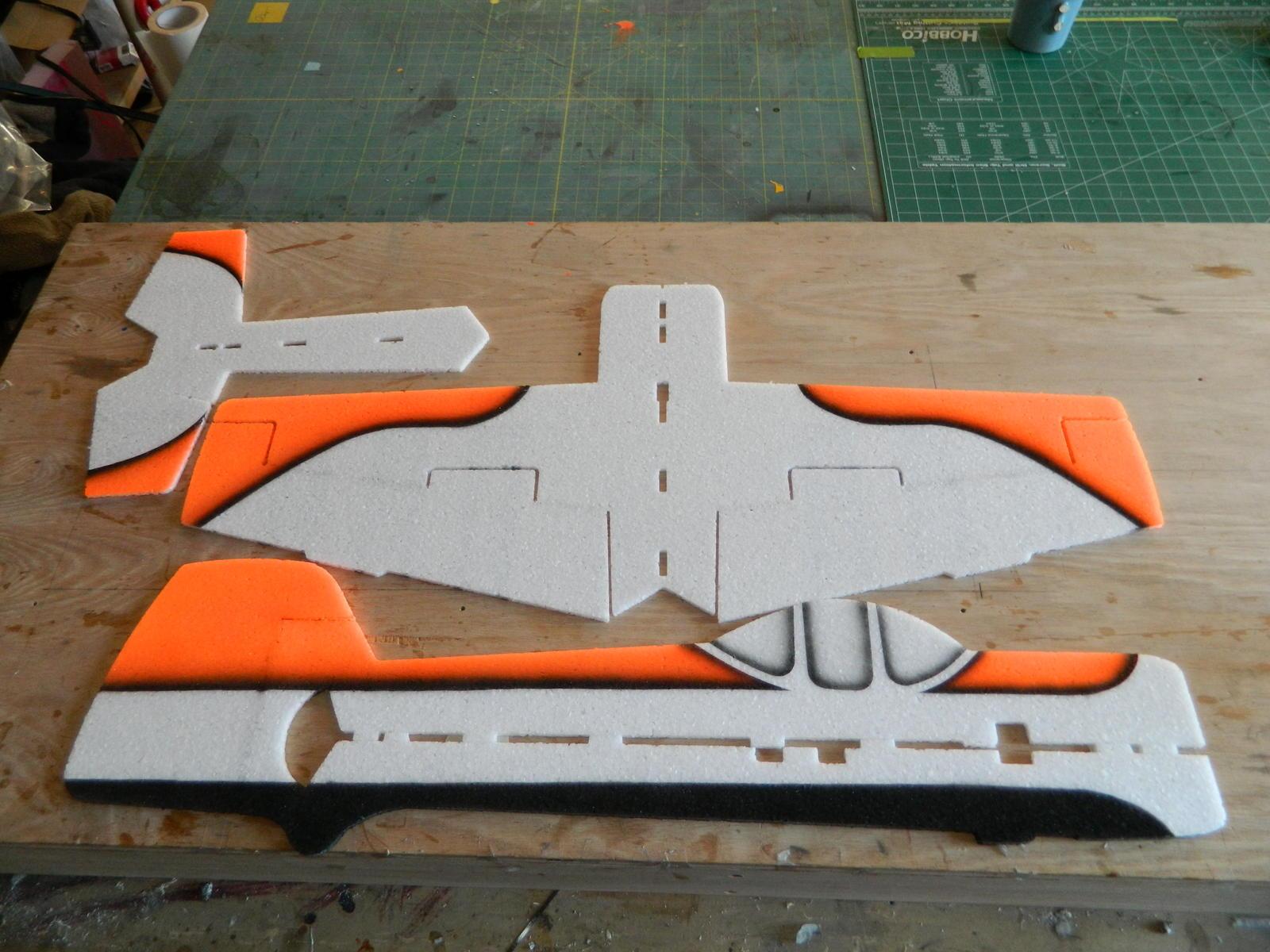 Name: DSCN0922.jpg Views: 241 Size: 214.8 KB Description: Painted parts ready for construction.