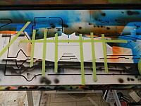 Name: DSCN0518.jpg Views: 139 Size: 196.2 KB Description: Masking off the bottom for the light D-day stripes.