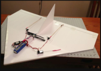 """Name: Screen Shot 2019-09-04 at 7.53.52 AM.png Views: 11 Size: 247.8 KB Description: 40"""" simple delta ( in the video ) made out of two sheets of dollar store foam board , plus a piece of scrap for the vertical fin ."""