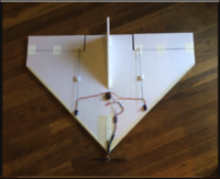 """Name: Screen Shot 2019-09-04 at 7.58.14 AM.png Views: 12 Size: 423.8 KB Description: Lightweight 40"""" simple delta ( paper skins peeled off ) flies great with a 24 gram hexTronik motor and a 1000mAh 3S battery . Motor on the nose for proper CG balance and quiet flying ."""