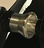 Name: Screen Shot 2020-09-12 at 10.19.57 AM.png Views: 3 Size: 61.0 KB Description: This piece on your prop adapter is on backwards . The ridges you see are meant to grip the propeller .