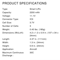 Name: Screen Shot 2020-09-30 at 1.51.10 PM.png Views: 6 Size: 41.9 KB Description: Recommended Spektrum battery specs .