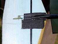 Name: MS069141.jpg Views: 168 Size: 276.2 KB Description: Carbon patch over horizontal crack in vert stab.