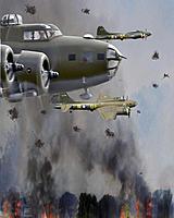 Name: Brents bomb run picture w flak.jpg Views: 73 Size: 103.8 KB Description: