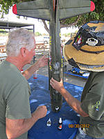 Name: Don and Jim gluing Brent B-17 together.jpg