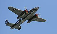 "Name: 035A4683-1.jpg Views: 45 Size: 60.3 KB Description: A high flying pass in Jim's B-25 ""Tondelayo"""