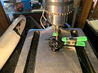 Name: build1.jpg Views: 13 Size: 1.81 MB Description: I used a drill press to drill some extra holes in the motor mount to fit the Cobra motor.