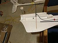 Dragonlink 433 dipole installed in the fuselage