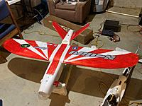 another dry fit to see how things look. At this point airframe is pretty much done, on to the electronics