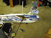 Name: IMG_3480 (Medium).jpg Views: 135 Size: 96.7 KB Description: front-side view of vee antenna mounted on wing