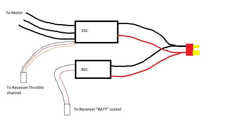 tricopter wiring diagram esc wiring
