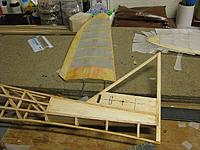 Name: 001.jpg Views: 40 Size: 217.2 KB Description: Moved the stab aft .78 inches and sliced off the TE to clear the rudder. I feel much better about this now. I'll fill in the forward slot